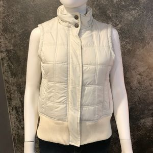 Jackets & Blazers - White Puffed vest personal identity S